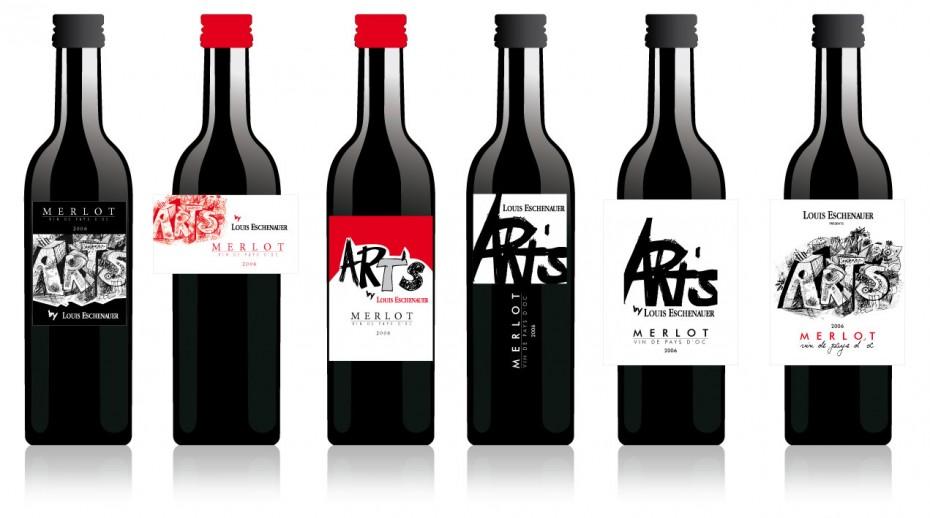 Etiquette de vin rouge en 18,7 cl