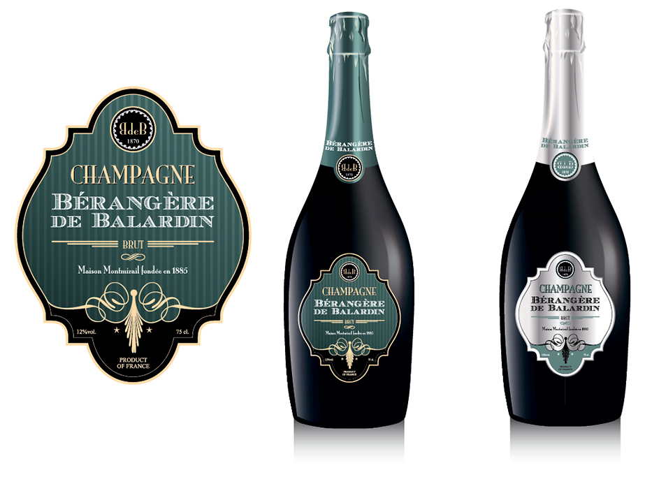 cr ation d 39 tiquettes de champagne avec une touche vintage. Black Bedroom Furniture Sets. Home Design Ideas