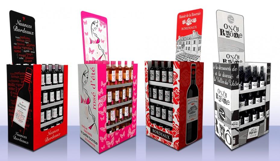 Création de display pour bouteilles de vin