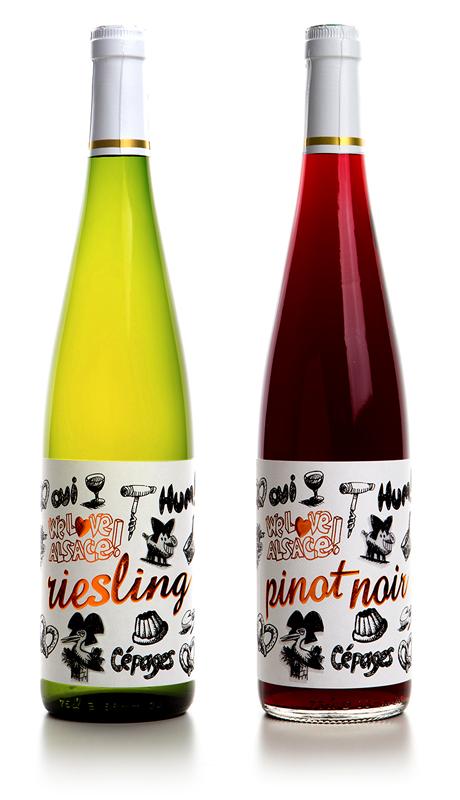 riesling et pinot noir vins d