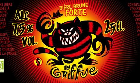 """Bière brune bio """"La Griffue"""""""