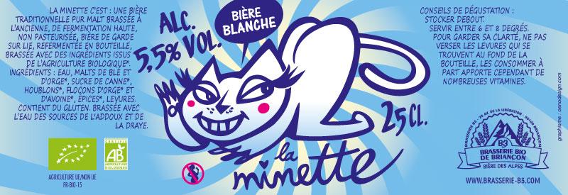 Bière blanche bio La minette