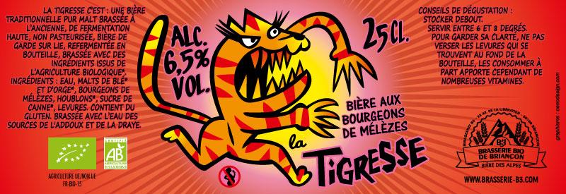 Bière bio la tigresse