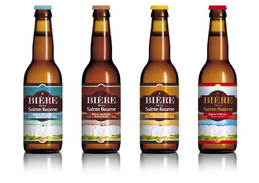 Création des étiquettes des bières de la Sainte-Baume