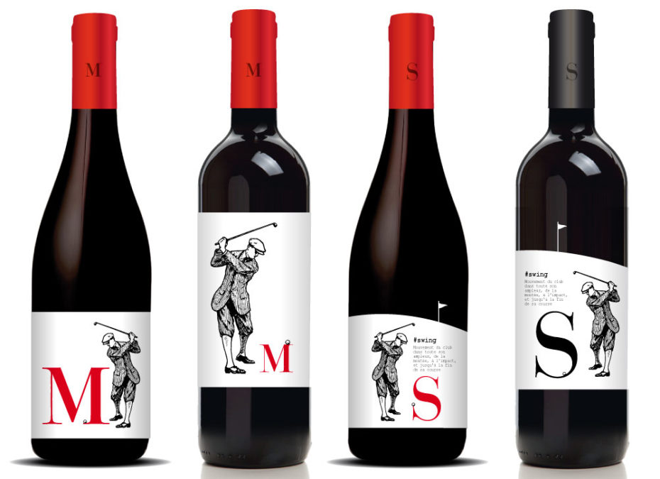 Création étiquette de vin autour du golf