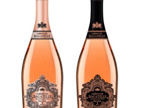 Création étiquette de champagne rosé