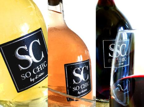 Création étiquette de vin so chic by divins