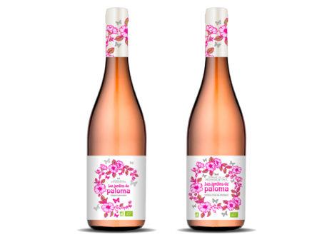 Création étiquette de vin rosé