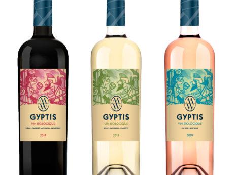 Création étiquettes des vins bios Gyptis
