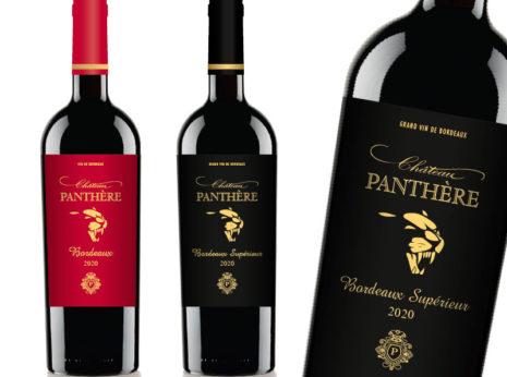 Création des étiquettes de vin Château Panthère en Bordeaux et Bordeaux Supérieur